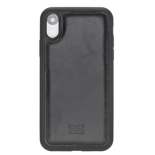 Flex Back Cover Leder Case Apple iPhone XR - Rustic Black