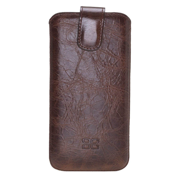 Insteekhoesje Leder Case iPhone XS MAX - Vessel Brown