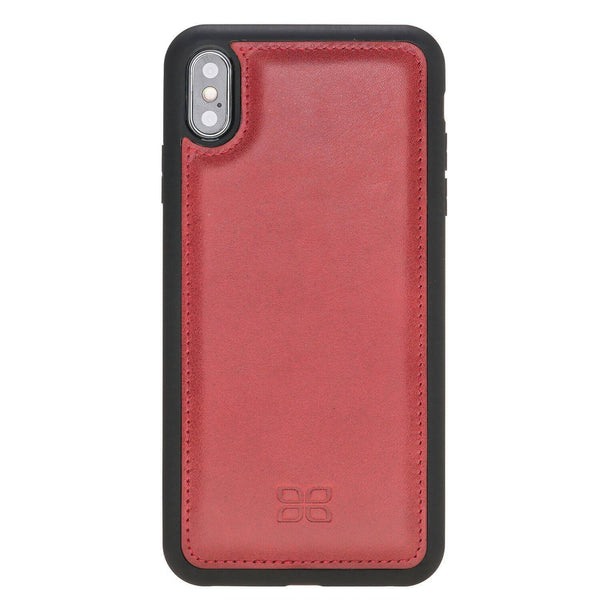 Flex Back Cover Leder Case Apple iPhone XSM- Vegetal Red