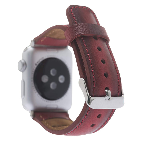 Leder Horlogebandje Apple Watch 42mm / 44mm - Vegetal Burnished Red