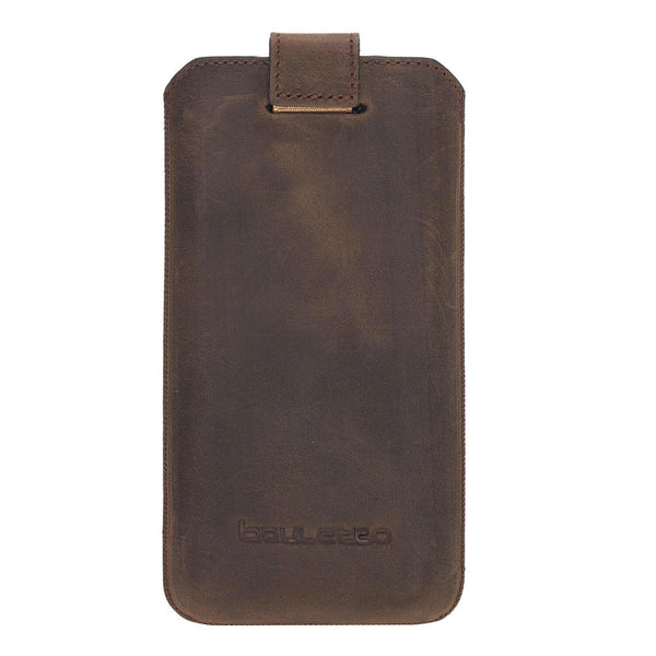 Insteekhoesje Leder Case iPhone XS MAX - Antic Brown