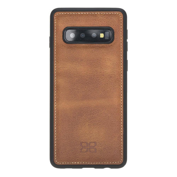 Flex Cover Back Leder Case voor Samsung Galaxy S10 Plus - Tiana Tan met Vein