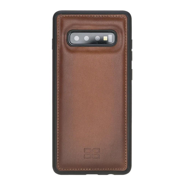 Flex Cover Back Leder Case voor Samsung Galaxy S10 Plus - Rustic Tan met Effect