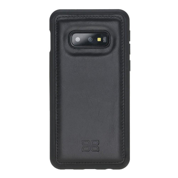 Flex Cover Back Leder Case voor Samsung Galaxy S10e Essential - Rustic Black