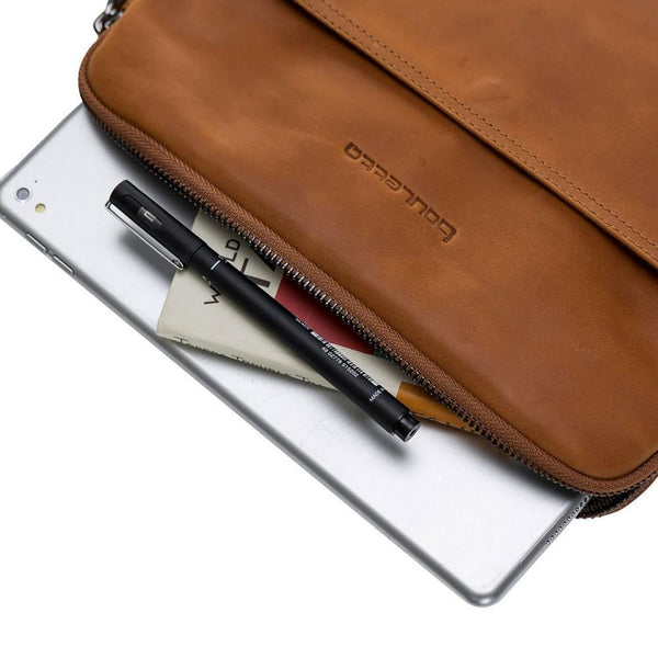 Awe Leder Tablet Case 11 '' - Rustic Tan met Effect