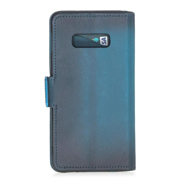 Wallet Leder Case New Edition met ID-slot voor Samsung S10e Essential - BRN Burnished Navy Blue