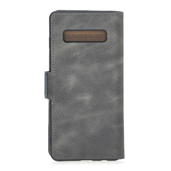 Wallet Leder Case New Edition met ID-slot voor Samsung S10 Plus - Tiana Gray