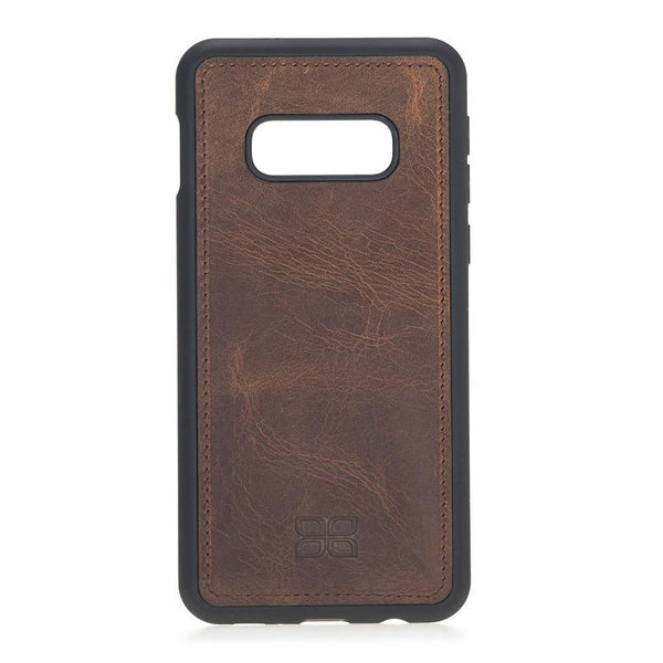 Magnetische Afneembare Leder Wallet Case voor Samsung Galaxy S10e Essential - Antic Brown