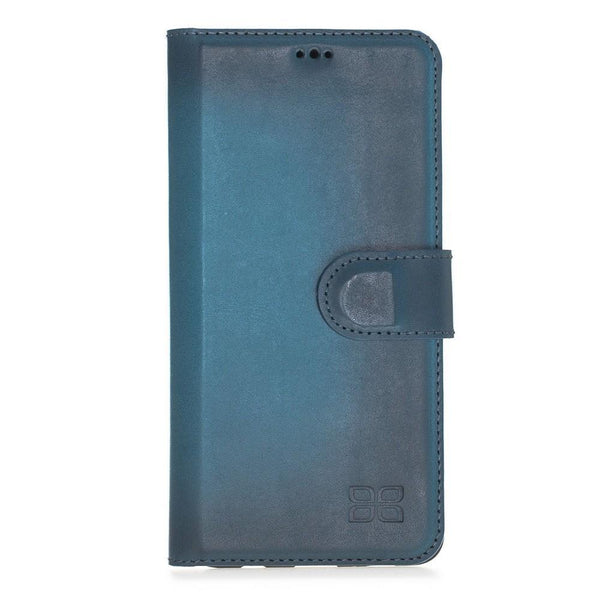 Magnetische Afneembare Leder Wallet Case voor Samsung Galaxy S10 - BRN Burnished Navy Blue