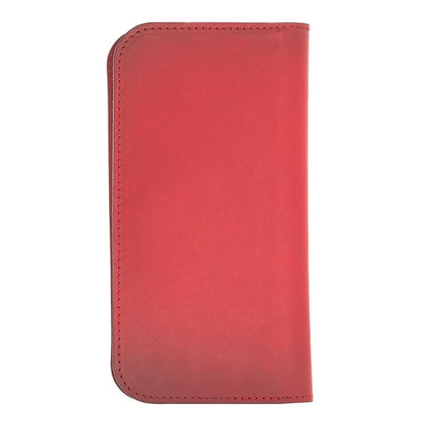Universal Lissabon Clutch Leder Phone Case tot iPhone X / XS - Burnished Red