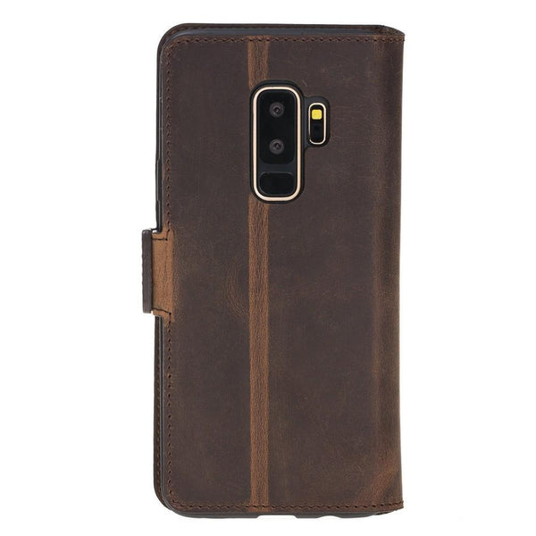 Wallet Leder Case New Edition met ID-slot voor Samsung Galaxy S9 PLUS - Antic Brown