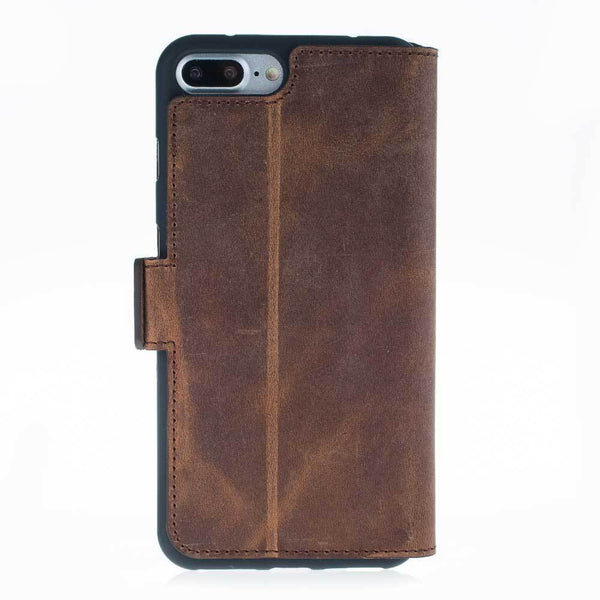 Wallet Leder Case New Edition met ID-slot voor Apple iPhone 7 Plus / 8 Plus - Antic Brown
