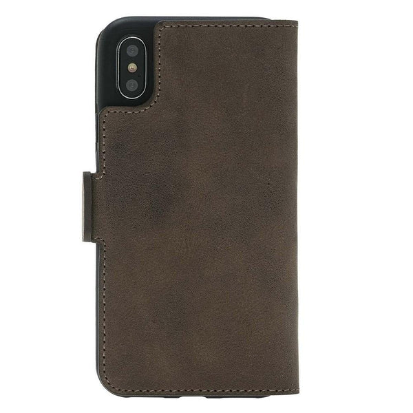 Wallet Leder Case New Edition met ID-slot voor Apple iPhone X / XS - Antic Brown