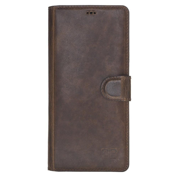 Wallet Folio Leder Case met ID slot voor Samsung Galaxy Note 9 - Vegetal Dark Brown