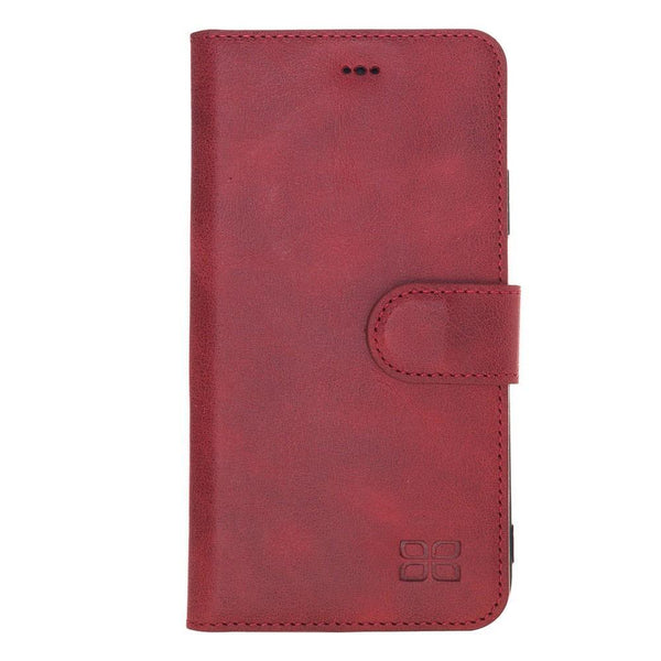 Wallet Folio Leder Case met ID slot voor Apple iPhone XR - Tiana Red