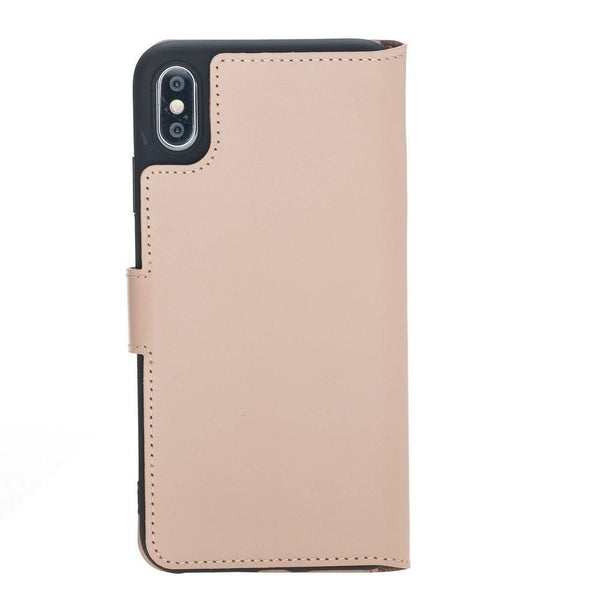 Wallet Folio Leder Case met ID slot voor Apple iPhone XS MAX - Naakt