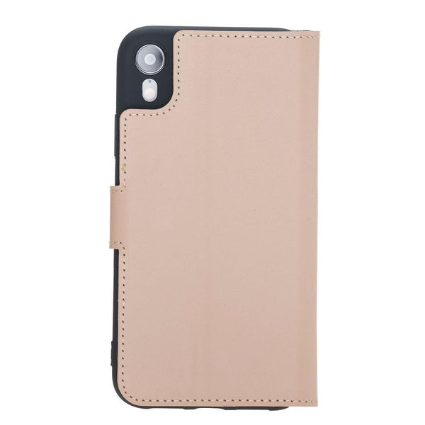 Wallet Folio Leder Case met ID slot voor Apple iPhone XR - Naakt