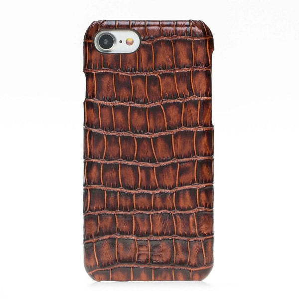 Ultimate Jacket Leder Phone Case voor Apple iPhone 7/8 - New Croco Brown