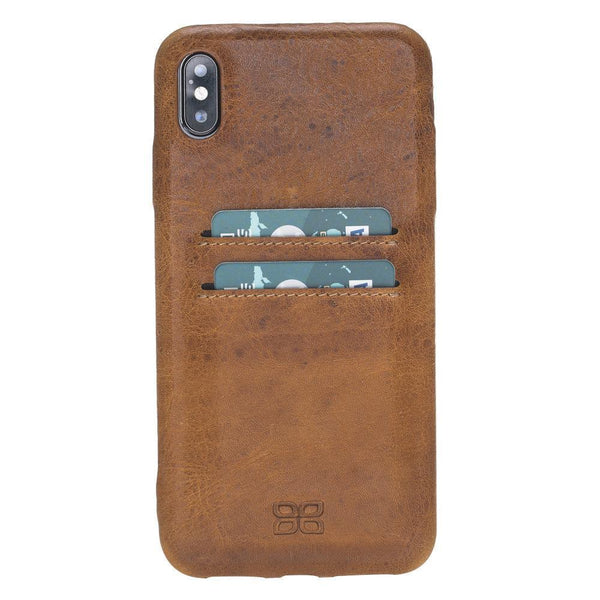Leder Ultra Cover met kaart houder voor Apple iPhone XS Max - Vegetal Tan