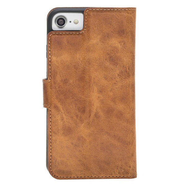 Magnetische Afneembare Leder Wallet Case voor Apple iPhone 7/8 - Vegetal Tan
