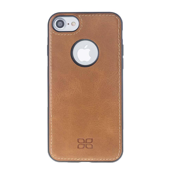 Flex Cover Back Leder Case voor Apple iPhone 7/8 - Rustic Tan
