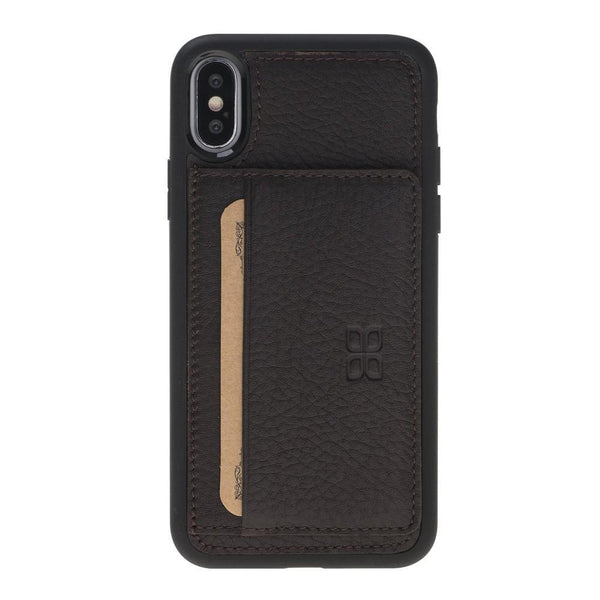 Flex Stand Cover Leder Case voor iPhone X / XS - Floater Brown