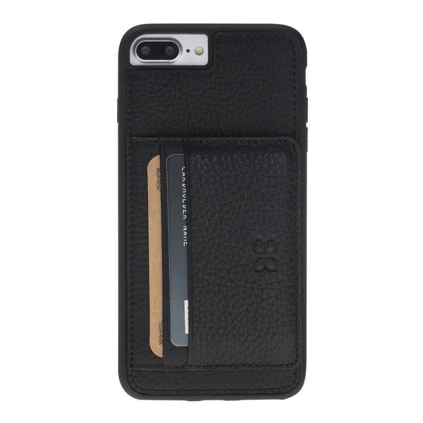 Flex Stand Cover Leder Case voor iPhone 7/8 Plus - Floater Black