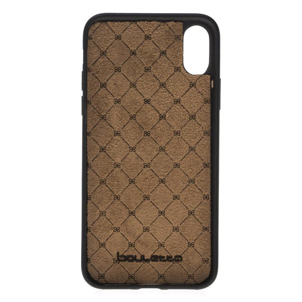Flex Cover Back Leder Case voor Apple iPhone X / XS - New Croco Black