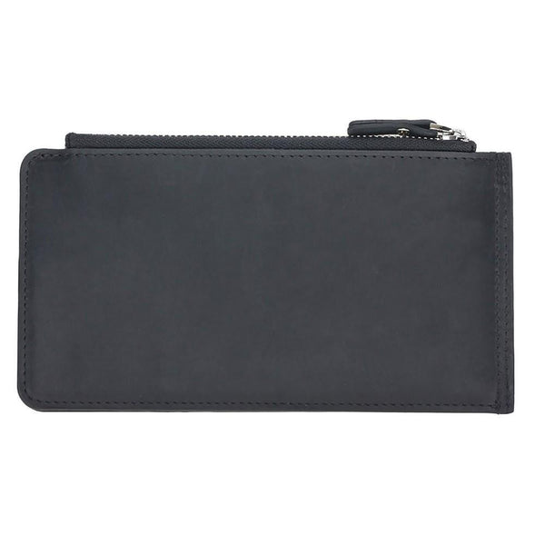 V Wallet Universal Leder Phone Case - Antic Black