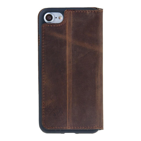 Leder Book Case Apple iPhone 7/8 - Antic Brown