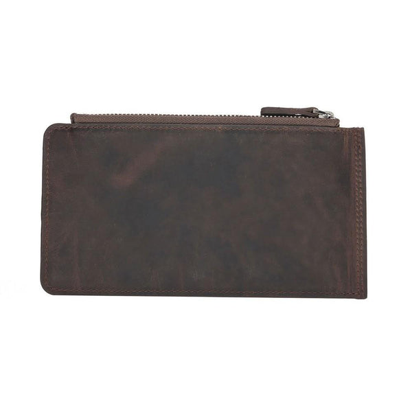 V Wallet Universal Leder Phone Case - Antic Dark Brown