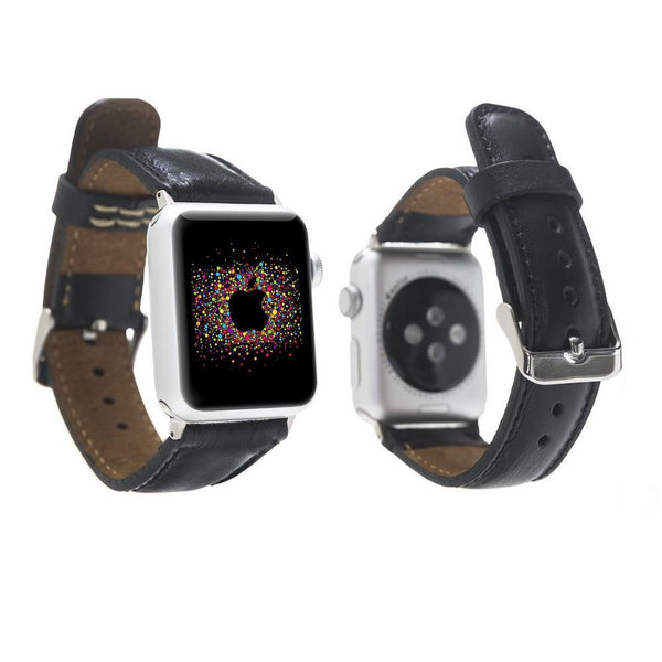 Lederen horlogebandje voor Apple Watch 38mm / 40mm - Rustic Black