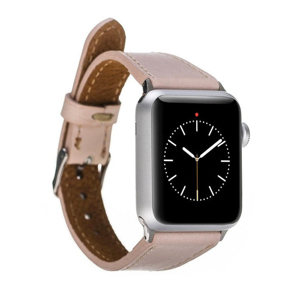 Leder Kijk Slim band voor Apple Watch 42mm / 44 mm - Naakt