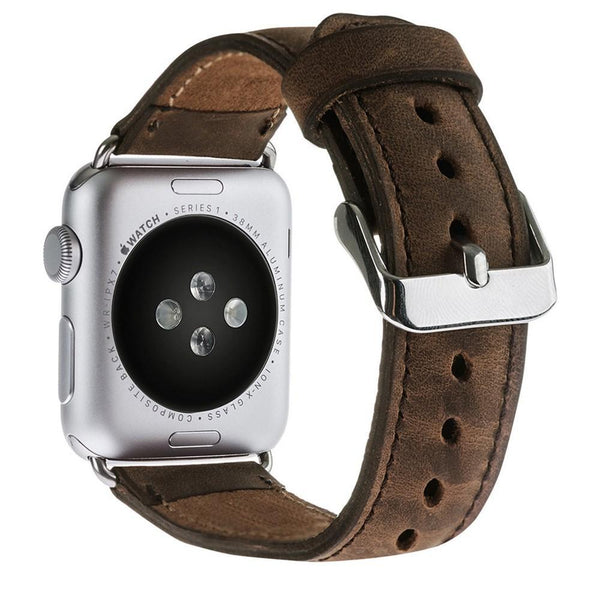 Lederen horlogebandje voor Apple Watch 38mm / 40mm - Antic Brown