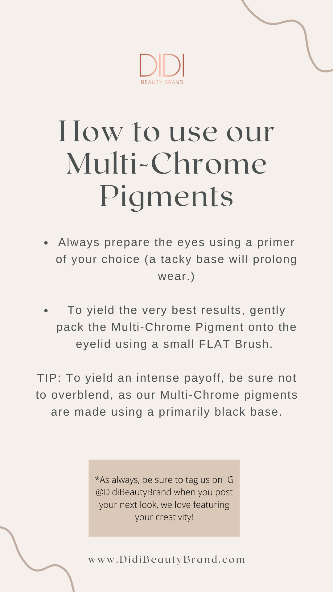 Multi chrome pigments, eyeshadow, makeup hacks, instructions, how to use, tip