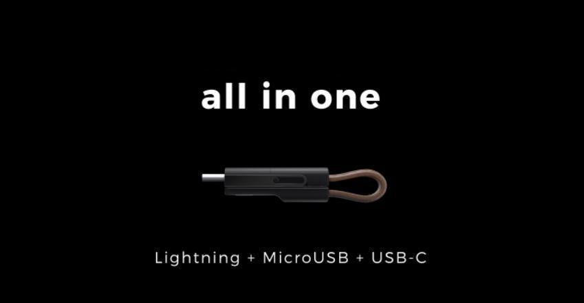 3 in 1 USB Keychain Cable