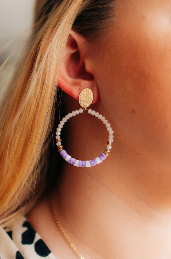 Lavender Circle Earrings