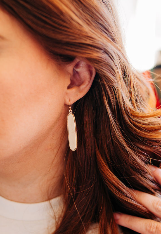 Cream Bar Earrings