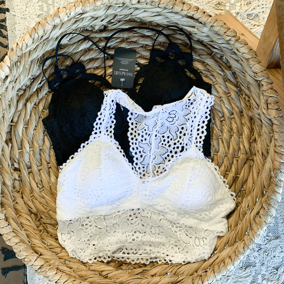 White Lace Padded Bralette