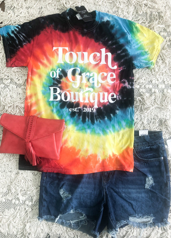 Tie Dye Touch of Grace Tee