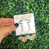 Leather Tassel Earrings
