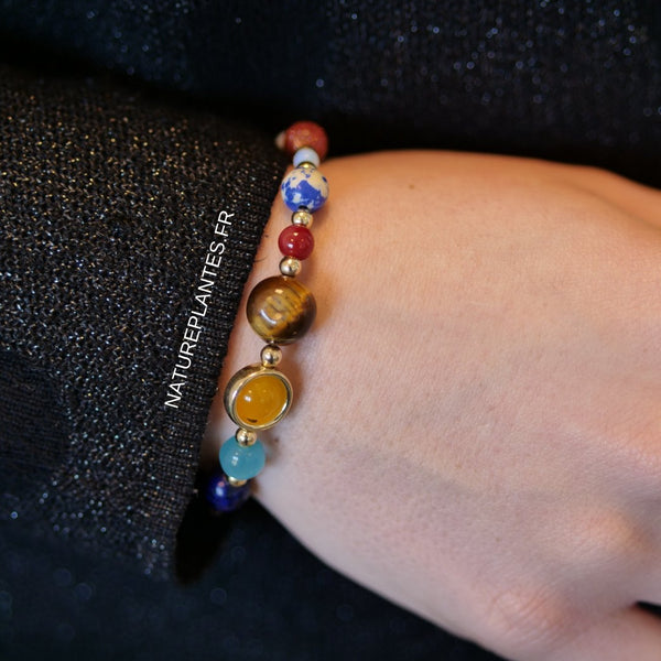 Bracelet galaxie pierres naturelles