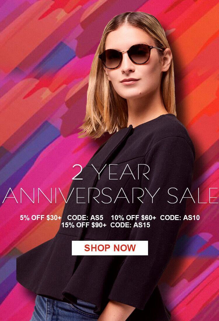 Avoalre Sunglasses 2 Year Anniversary Sale