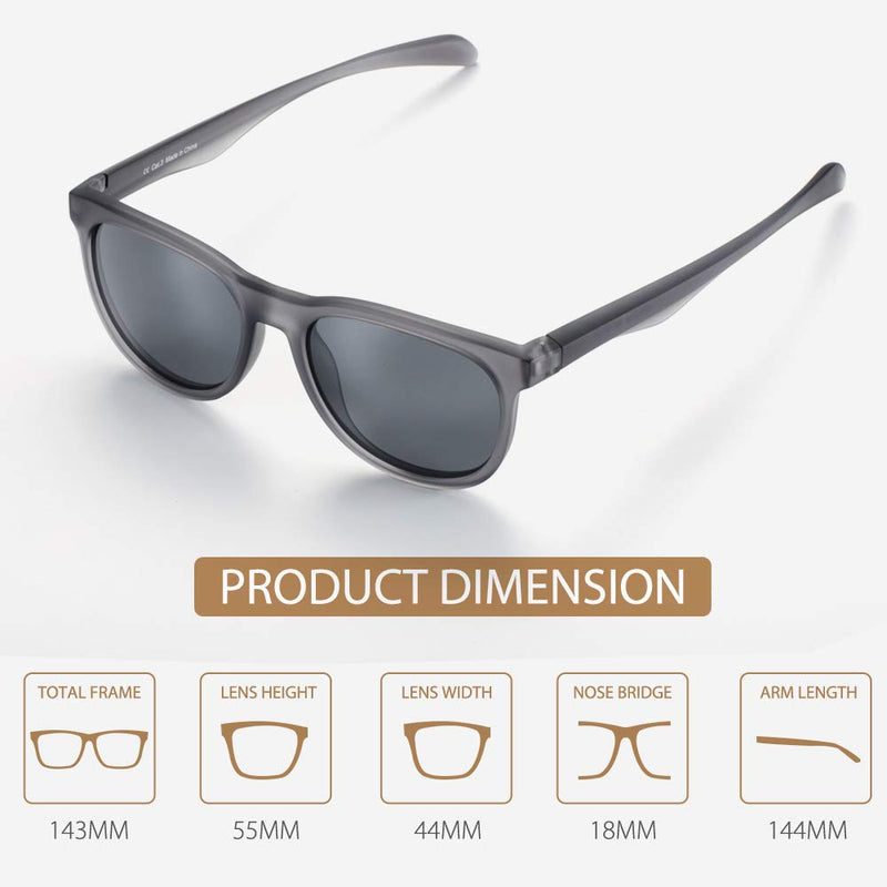 Lightweight Metal Frame Gray Anti UV Polarized Women Sunglasses