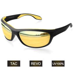 Grilamid TR90 Yellow TAC Polarized Lens Anti UV Sports Sunglasses