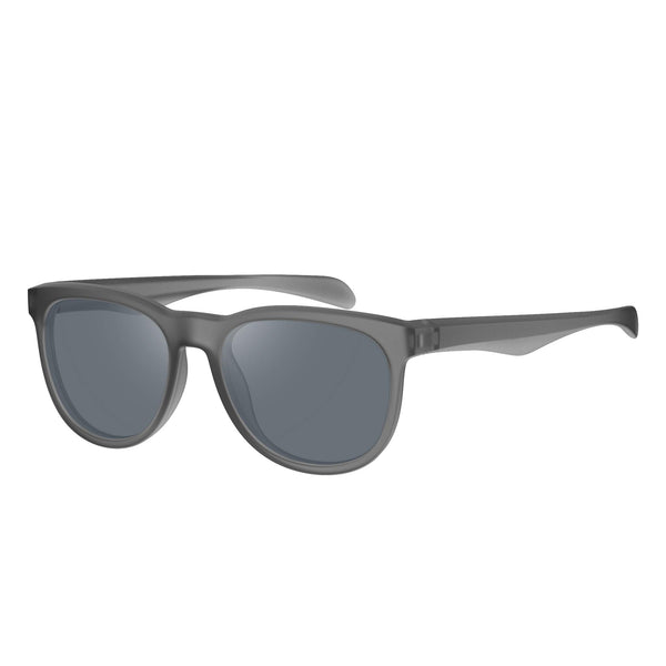 Lightweight Metal Frame Gray Anti UV Polarized Sports Sunglasses-1