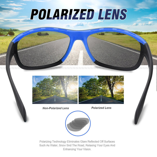 TR90 Blue Polarized Revo Coating Lens Anti UV Sports Sunglasses