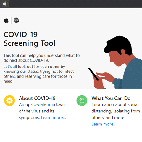 Apple COVID-19 Screening Tool