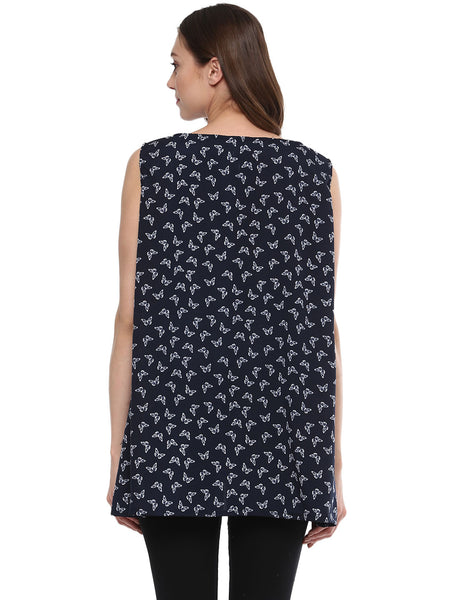 Maternity Top Sleeveless Butterfly Crepe