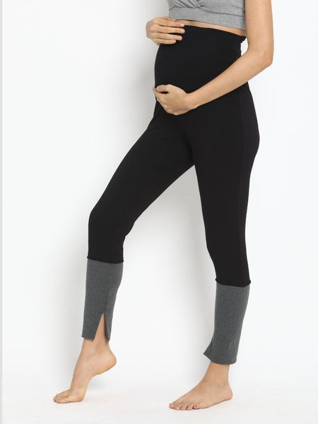 Overbelly Cotton Knit Maternity Leggings